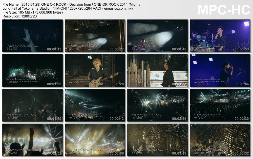 "[2015.04.29] ONE OK ROCK - Decision from 「ONE OK ROCK 2014 ""Mighty Long Fall at Yokohama Stadium""」(M-ON!) [720p]   - eimusics.com.mkv_thumbs_[2015.09.25_15.22.48]"
