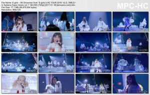 """E-girls – Mr.Snowman from """"E-girls LIVE TOUR 2016 ~E.G. SMILE~ in Saitama Super Arena vol.1"""" (M-ON!) [720p] [PV]"""